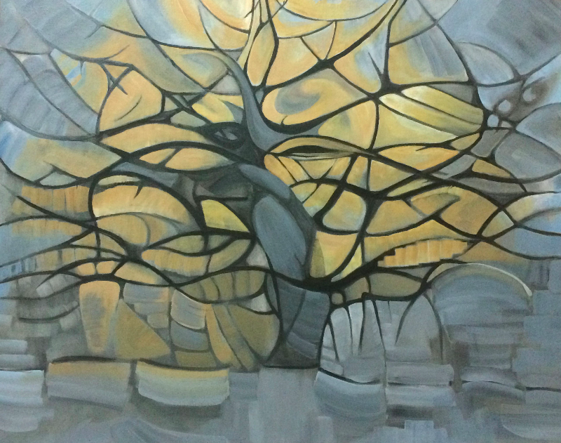 2015 tree II (acrylic on canvas)