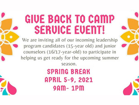 Back to Camp Service Event!
