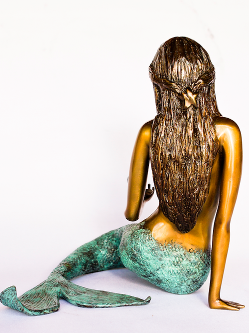 Mermaid, bronze statue