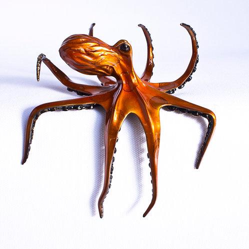Penny, bronze octopus