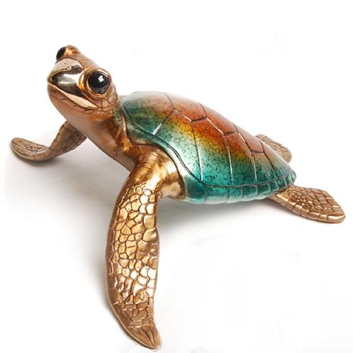 Lagoon, bronze turtle