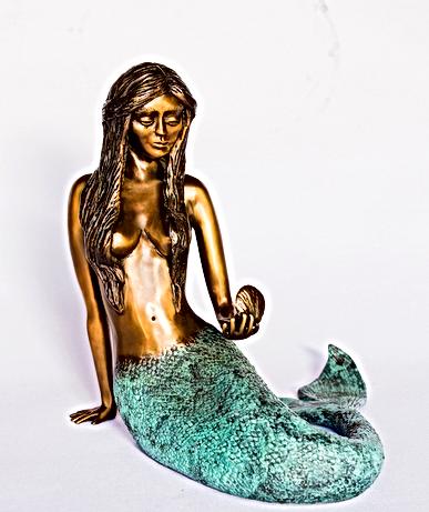 Bronze Mermaid Sculpture by Sage Barela