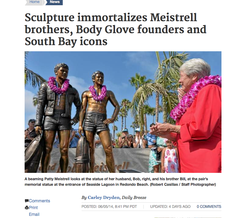 Chris Barela's life size sculpture