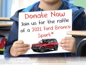 St. Joseph School and Parish 2021 Ford Bronco Sport – Badlands Drawing