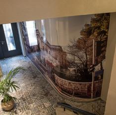 תכנון ועיצוב הכניסה לבניין משרדים