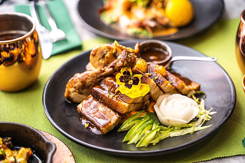 Chicken and pork adobo - Romulo Cafe (2)