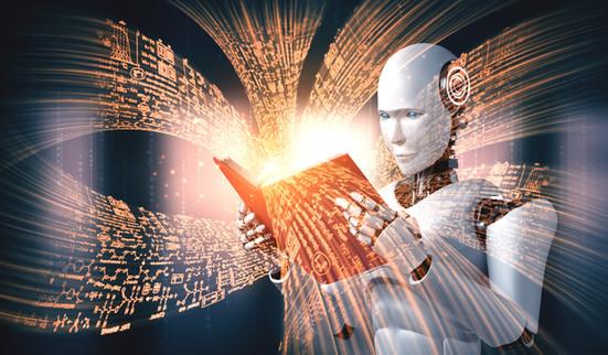 3d-illustration-robot-humanoid-reading-b