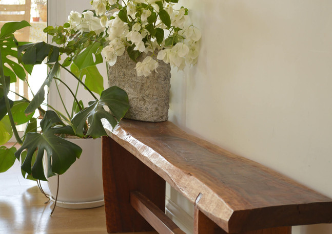 Wood bench by Ron Shahar