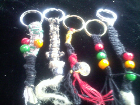 Hemp Cord Key Rings