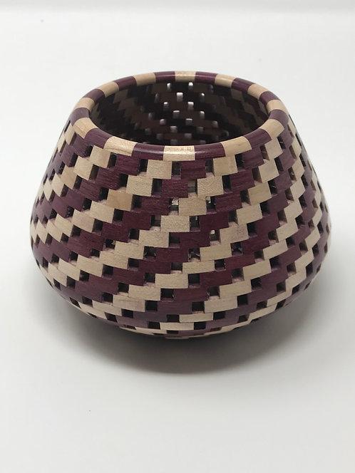 Purpleheart and Maple Tea Light Candle Holder