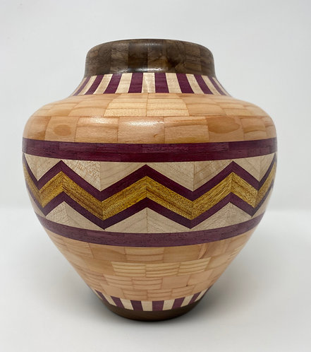 Segmented Southwestern-style Vase
