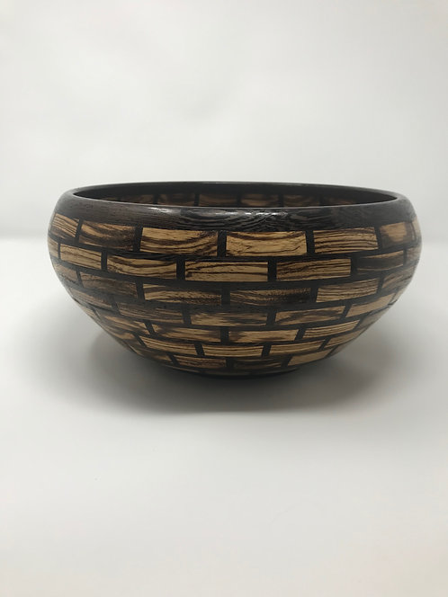 Zebrawood and Wengé Fruit/Salad Bowl