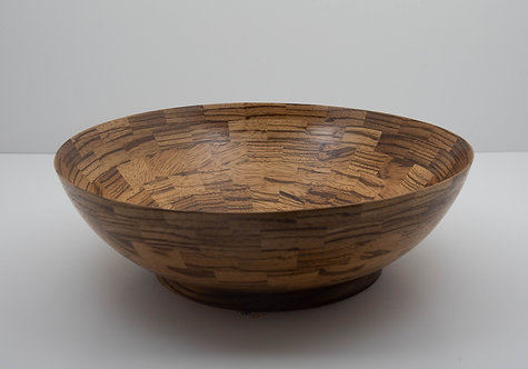 033 - Zebrawood Fruit/Salad Bowl
