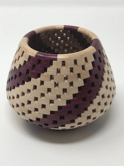 Maple and Purpleheart Tea Light Candle Holder
