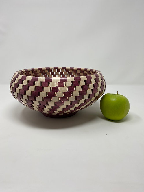 PurpleHeart and Curly Maple Bowl