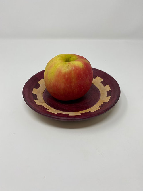 Small Purpleheart and Maple Platter