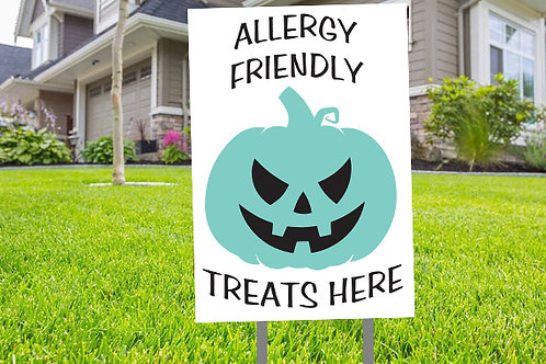 Allergy Safe Trick or Treat Sign
