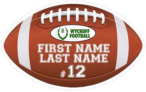 Customized Wyckoff Football Sign