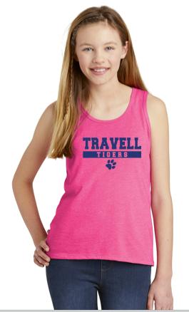 Travell Girls Tank Top Pink