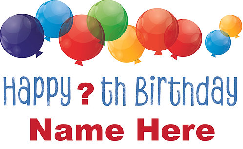 Large Birthday Sign 36x24