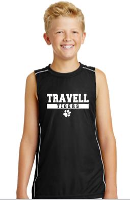 Travell Boys Tank Top Black