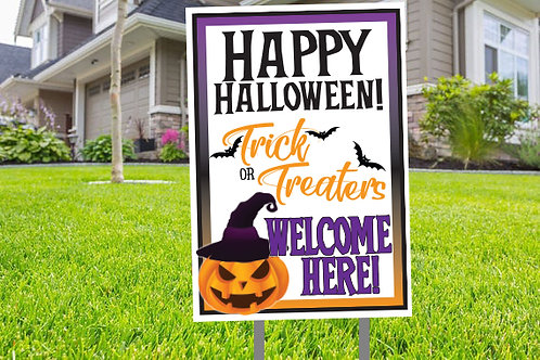 Trick or Treat Lawn Sign