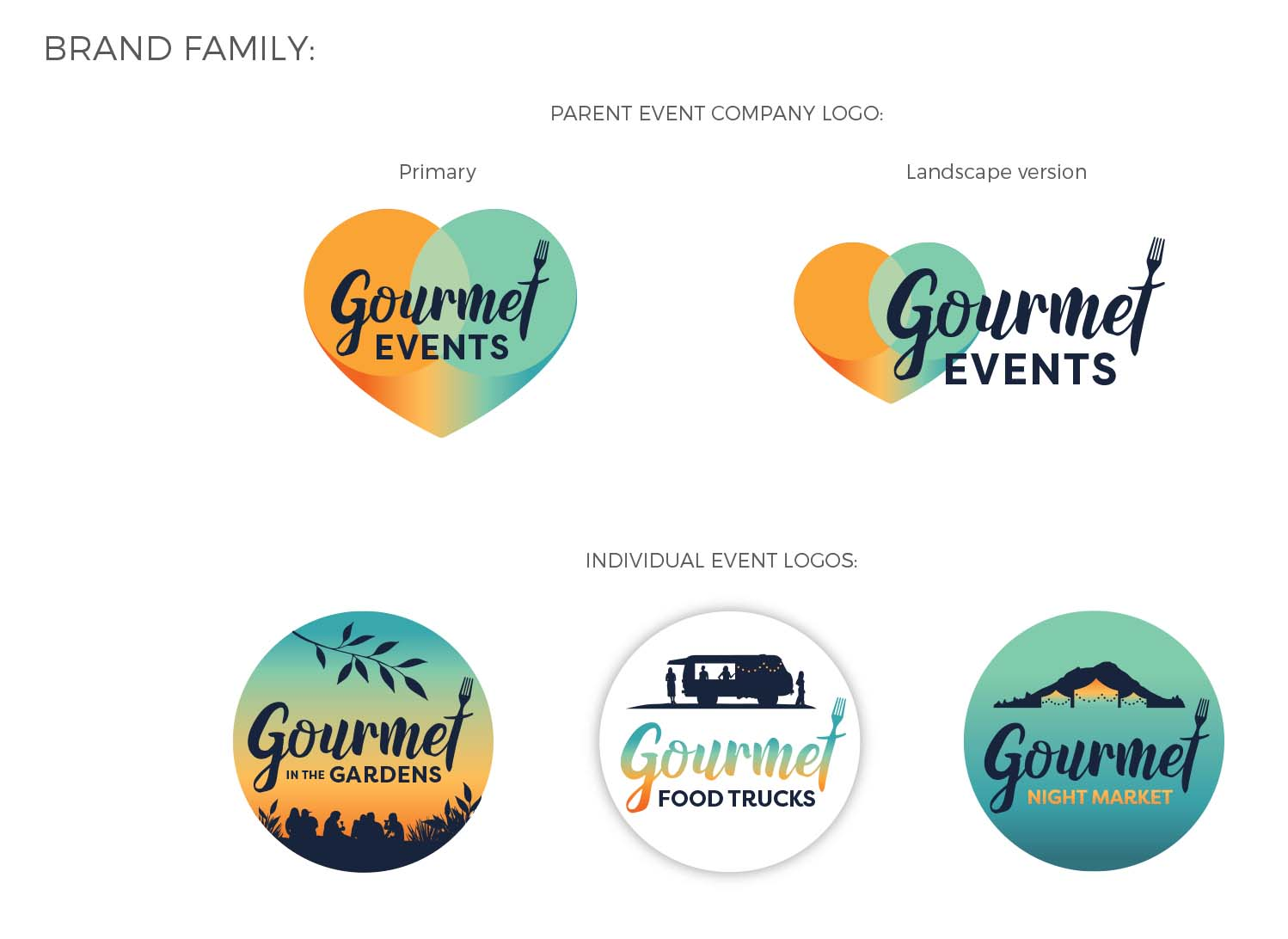 Gourmet Events family branding