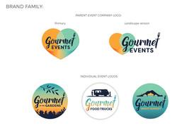 Gourmet Events family branding