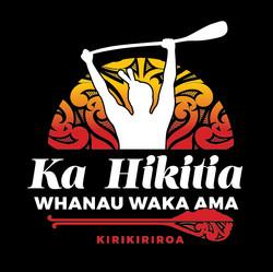 Ka Hikatia Waka Ama logo on black for SC