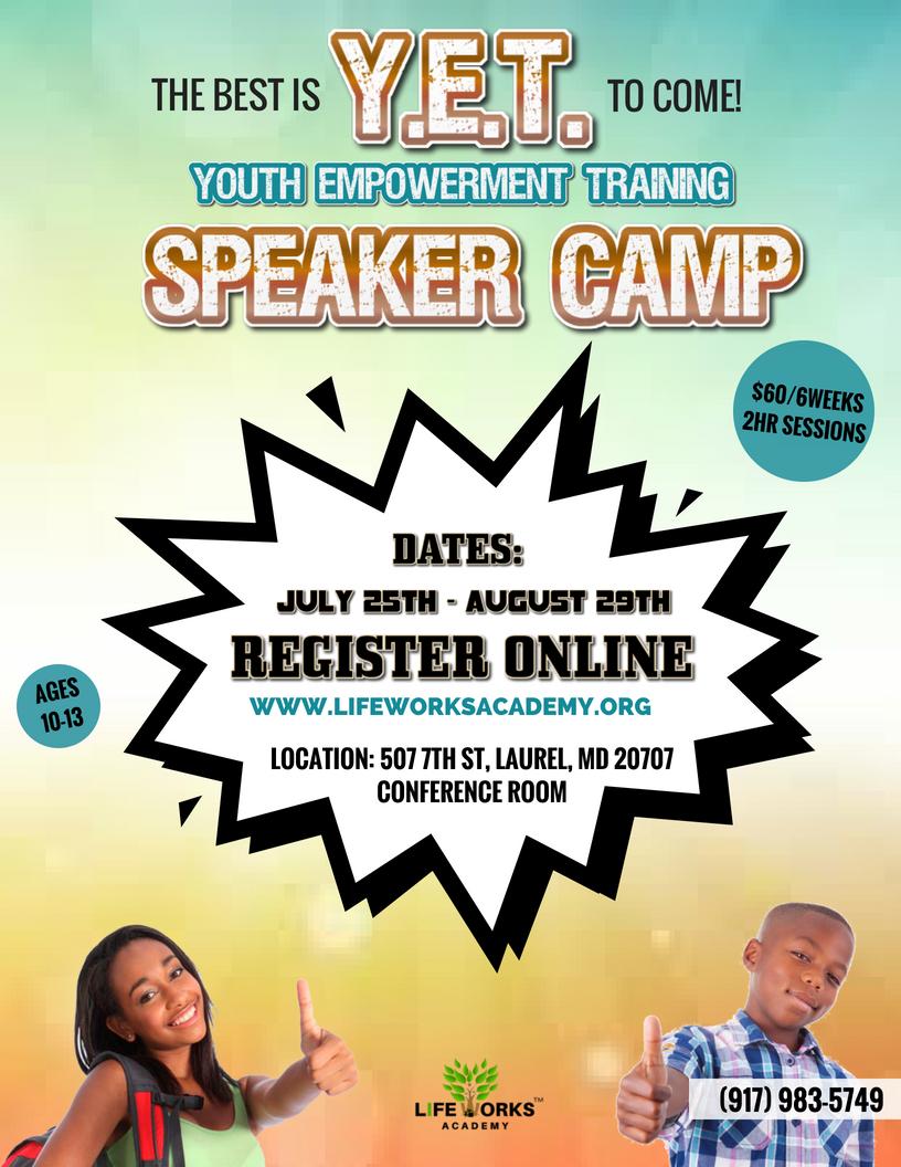 Y.E.T SPEAKER CAMP