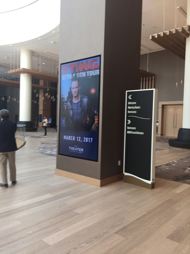 Large display screen for movie advertising - MGM Movie Theater
