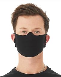 Bella-Cloth Mask-Black-Front Model.png