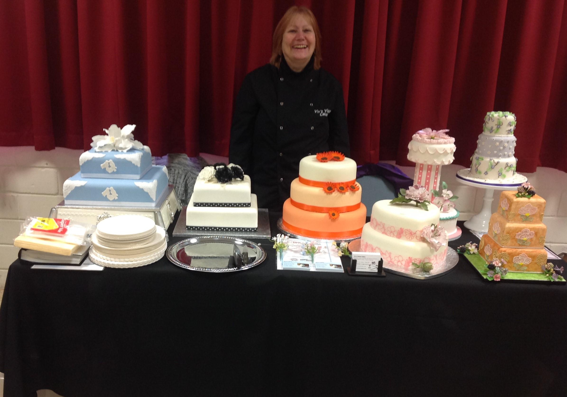 Various Cakes at Wedding Fair 2015