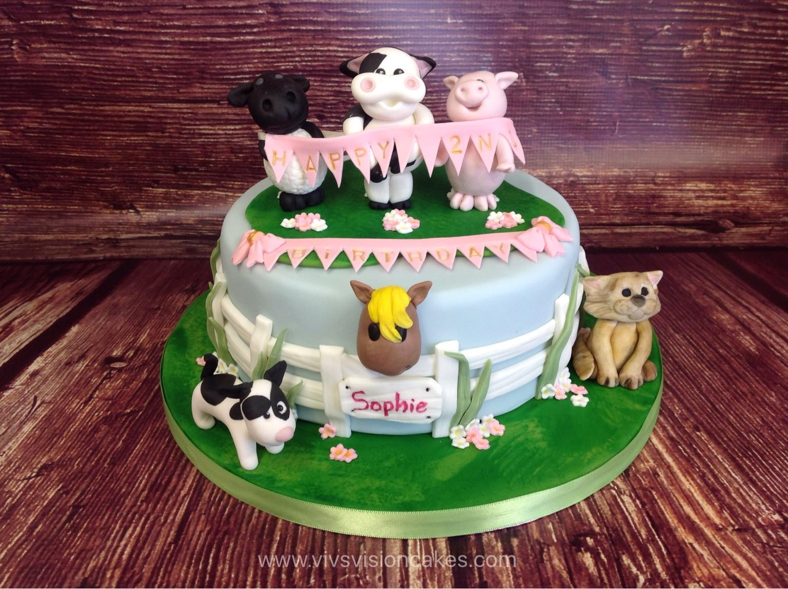 Farm Animale Cake