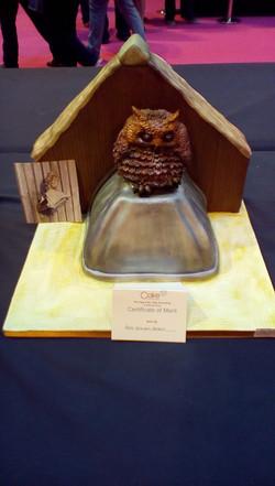 NEC Owl Cake