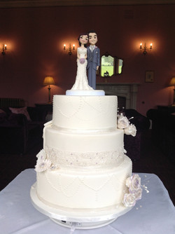 Oliver & Pippa's Wedding Cake