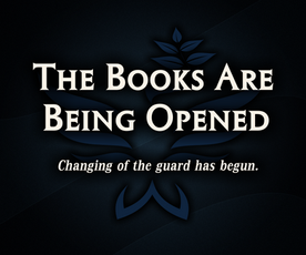 The Books Are Being Opened