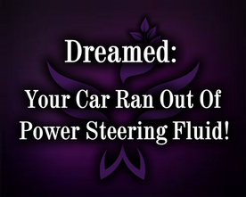 Dreamed power steering fluid leaked out of car