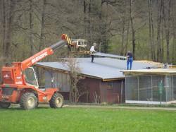 Vereinshaus Dachabbruch und neu Deck