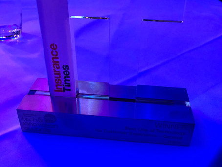 rradar wins at Insurance Times Tech & Innovation Awards