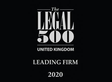 Legal 500 ranking for rradar