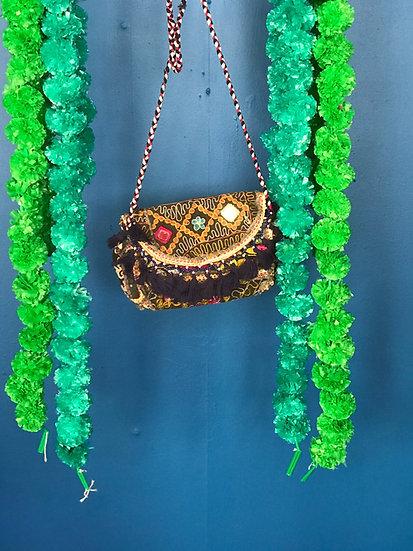 Boho Indian Patchwork Handbag - Small Shoulder Bag