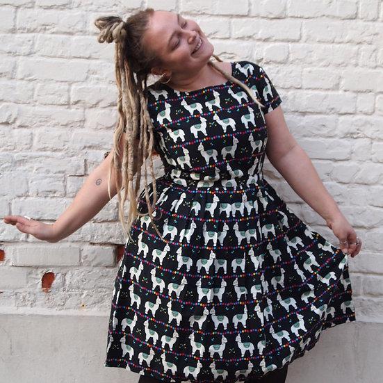 Llama Print Dress - Run & Fly