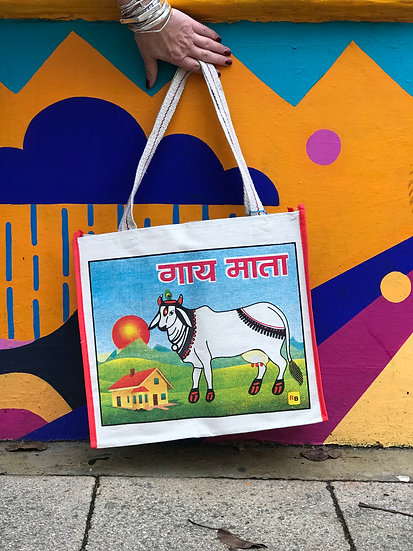 Indian Market Bag - Sacred Cow