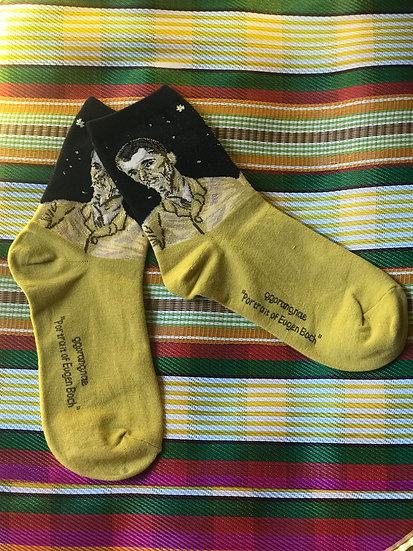Van Gogh, Eugene Boch portrait socks
