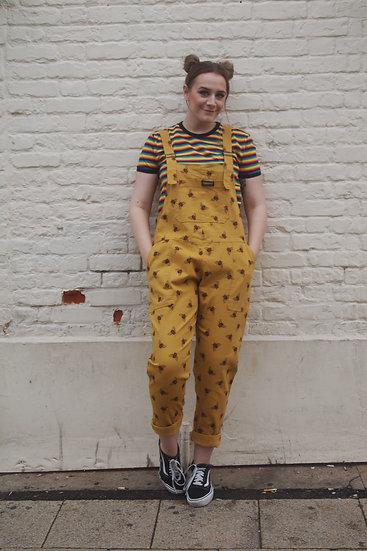 Yellow Bee Dungarees Twill - Run & Fly