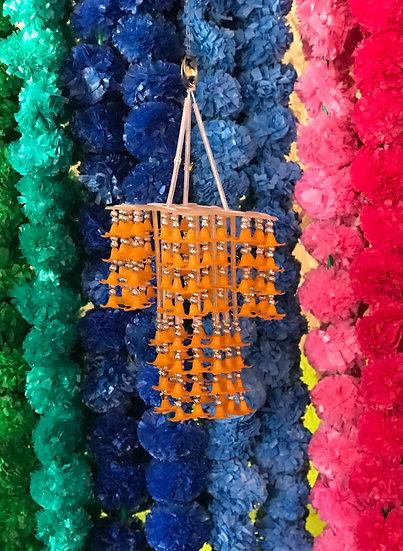 Indian Orange Beaded Ceiling Hangy