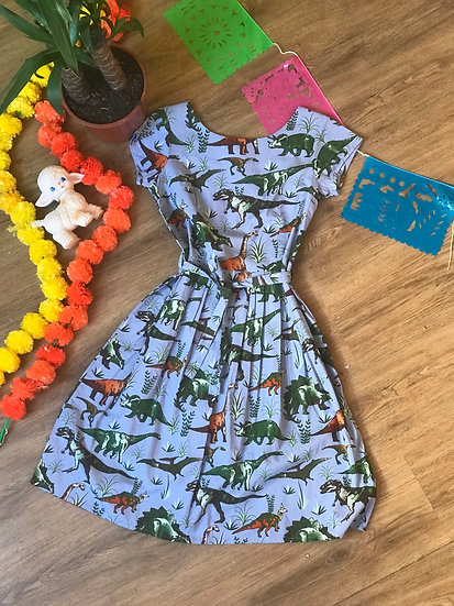 Adventure Dino Print Dress - Run & Fly