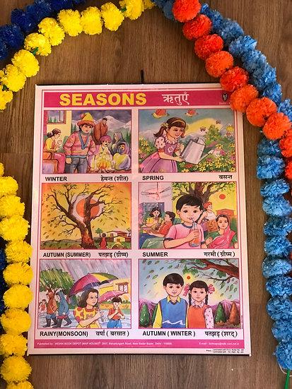 Indian School Poster - Seasons