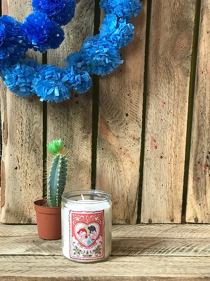 Vintage Valentine Small Candle